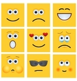 modern yellow face set background vector image