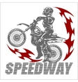 Motocross rider on a motorcycle vector image vector image