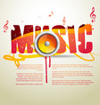 music template vector image vector image