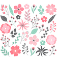 Pastel Floral Set vector image vector image