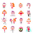 people stickers set vector image vector image