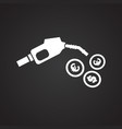 petrol station fuel on black background vector image vector image