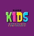 playful style font design childish alphabet vector image vector image