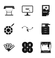 Printing in polygraphy icons set simple style vector image vector image