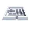 realistic 3d detailed white labyrinth puzzle vector image vector image