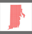 red dot map of rhode island vector image vector image