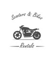 sale and rental bikes vector image vector image