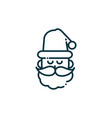 santa claus happy christmas line icon vector image vector image