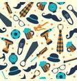 seamless pattern of fathers day flat set icons on vector image vector image