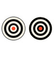 set icons of targets vector image vector image