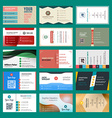 set of modern creative business cards vector image vector image