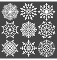 set of silhouette snowflakes for your design vector image