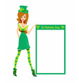 sexy leprechaun girl vector image