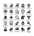shopping icons set 7 vector image