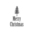 Simple Marry Christmas greeting card with pine vector image vector image