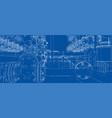 sketch of industrial equipment vector image