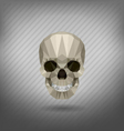 skull in the style of origami vector image vector image
