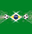 soccer or football wide banner with 3d ball on vector image vector image