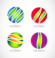 Sphere logo vector image vector image
