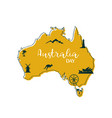 stylized map of australia with main australian vector image
