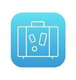 Suitcase line icon vector image