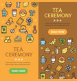 tea ceremony banner vecrtical set vector image vector image