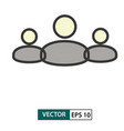 team poeple icon colour style eps 10 vector image vector image