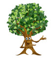 tree man pointing vector image