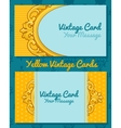 Two golden vintage horizontal business cards vector image