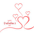 valentines day background composition vector image vector image