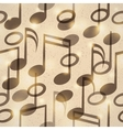 vintage music pattern vector image vector image