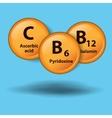 vitamin background vector image