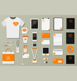brand identity template set business vector image