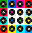 Vinyl Set Retro Colorful LP Disc Vinyl Record vector image