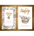 bakery basket banner vector image