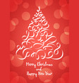 christmas tree in the form of ribbons vector image