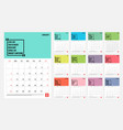 2020 calendar - template mock up vector image