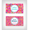 8 bit business card design vector image vector image