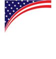 american abstract flag corner border banner vector image vector image