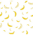 banana seamless pattern wrapping paper gift card vector image vector image