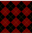 Black Royal Red Diamond Background vector image vector image