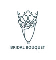 bridal bouquet line icon bridal bouquet vector image vector image