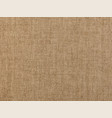 brown flax linen canvas texture background vector image