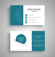 Business card with with abstract blue pockets vector image vector image