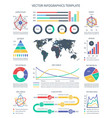 business infographics statistics data vector image vector image
