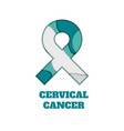 cervical cancer awareness papercut ribbon vector image vector image