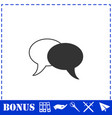 chat icon flat vector image vector image