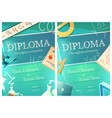 chemistry and mathematics science diploma template vector image