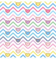chic hearts background vector image