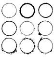 circular frames set vector image vector image